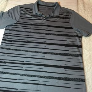 Nike Golf Standard Fit DriFit Stiped Shirt XL